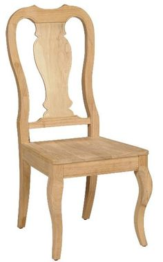 Shop now for our Hardwood Queen Anne Chair - 2 Pack. Our beautifully styled Solid Hardwood Queen Anne Chair is crafted of Solid unfinished Parawood hardwood.