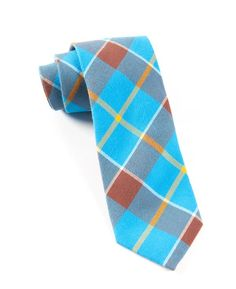 STAMFORD PLAID TIES - ELECTRIC BLUE | Ties, Bow Ties, and Pocket Squares | The Tie Bar