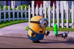 """Ha! Poor minion that was running for his life until he saw """"gelato""""...yeah, that's probably me as a minion"""
