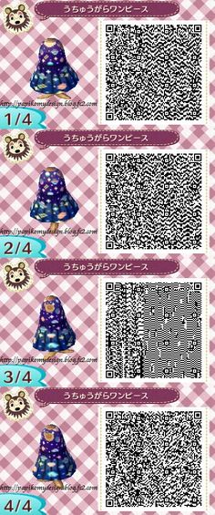 ACNL Space Dress QR Code.