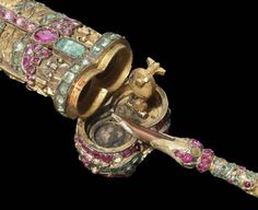 18th Century ladies jeweled pen and case