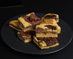 Chocolate-Cheesecake Blondies   unter 100 Kcal Rezept