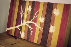 fall art out of a $6 home depot mini pallet