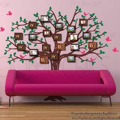 Family Photo Tree Wall Decal - PopDecors.com