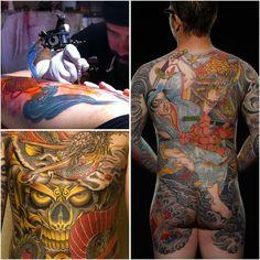 Bill Canales tattoos - Full Circle Tattoo - San Diego, CA.