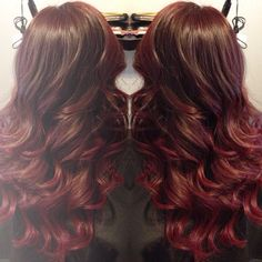 Red ombre... like it but it probably looks way better with curly hair than straight.
