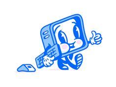 Super Team Deluxe Mascot by Rogie King - Dribbble Retro Cartoons, Old Cartoons, Vintage Cartoon, Retro Illustration, Plant Illustration, Character Illustration, Icon Illustrations, Mascot Design, Badge Design