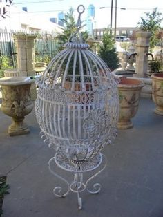 Lot: 354: Antique Birdcage from France-Early 1900's, Lot Number: 0354, Starting Bid: $1,600, Auctioneer: Les Antiquites Maison, Auction: Fine Art, Antique, Furniture and Decorative, Date: March 4th, 2011 UTC
