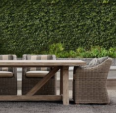 Restoration Hardware Outdoor Dining Set. I need to find a knock-off!