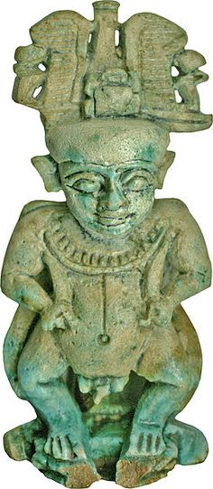 This dwarf-like, protective deity was very popular in ancient Egypt; amulets in the shape of this god were particularly popular from the Third Intermediate period. The Greek name Pataikos comes from a passage in the writings of Herodotus (ca. 5th century BC), who used this term to describe a Phoenician protective dwarf-like image. The Egyptian Pataikos is a special manifestation of the creator god Ptah and the dwarf-like appearance symbolizes his magical power. 3rd  cent.BC