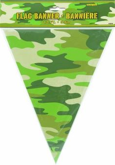 Camo Party Plastic Flag Banner