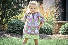 Fall 2012.. Pink Grey and Green Damask Dress.. Sz 6m-6y.. Perfect for Fall days girl toddler