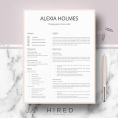 Microsoft Word Resume Templates For Mac Professional Modern And Minimalist Resume Template For Word