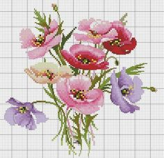 This Pin was discovered by лар Simple Cross Stitch, Cross Stitch Bird, Cross Stitch Flowers, Cross Stitch Charts, Cross Stitch Designs, Cross Stitching, Cross Stitch Embroidery, Cross Stitch Patterns, Crochet Cross
