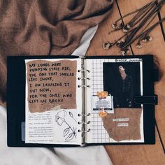 'my lungs were pumping stale air the one that smelled like smoke i am exhaling it out now for the ones who left me broke' // art journal + poetry // journaling, flatlay, crafts, scrapbooking, diy, no