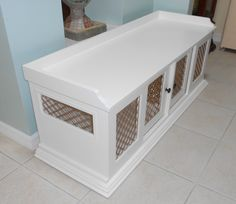 46 ideas for wooden dog crate cover living rooms Wood Dog Crate, Crate Bench, Dog Crate Furniture, Diy Dog Crate, Custom Furniture, Dog Crates, Furniture Ads, Furniture Movers, Cheap Furniture