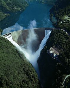 Verzasca dam, Switzerland.. I wish I had the courage to bungee jump, because this looks like a great place to do it!