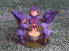 felt candle circle