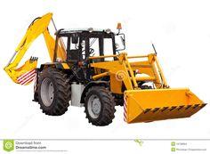 Yellow Bulldozer-excavator Stock Images - Image: 19738894