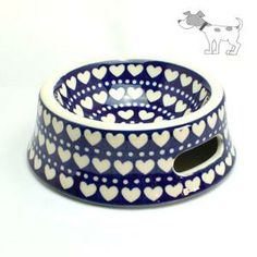 Do you love your dog? This bowl is the right thing. Polish pottery