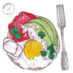 Good objects - Brunch…  as seen on @helenedujardin #goodobjects #illustration #watercolor