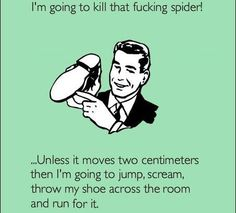 Used a flip flop to kill a spider and a bunch of BABY SPIDERS came crawling out all over the place. KILL IT WITH FIRE!!!!