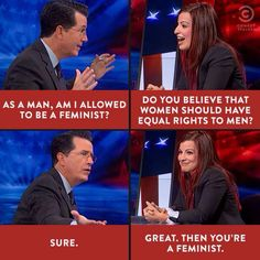 Best part of their interview #Gamergate #Colbert