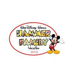 Disney World Vacation Matching family shirt reunion Mickey iron on transfer. $5.00, via Etsy.