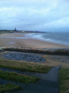 Tynemouth long sands beach Tuesday 11 February 2014 7.45 am