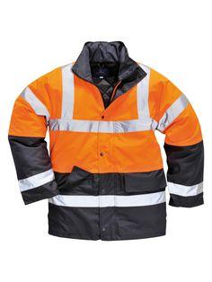 Portwest Hi Vis Netz Gefüttert Sicherheit Arbeit Fleece Mantel Jacke Warnschutz