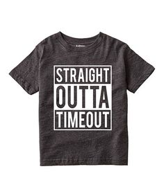 Heather Charcoal 'Straight Outta Timeout' Tee - Toddler & Kids #zulily #zulilyfinds