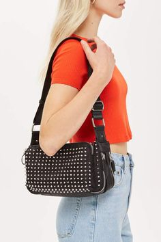 Topshop Tokyo Studded Shoulder Bag Festival Essentials, Bum Bag, Bag  Accessories, Purses And 8a4613d138