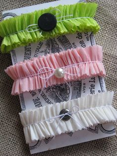 crepe paper ruffle bands