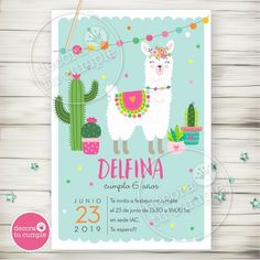 Birthday Party Invitations, Party Favors, Birthday Parties, Llama Birthday, Cool Birthday Cakes, Fiesta Party, Pajama Party, Cactus, Baby Shower