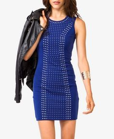 Studded Mesh Back Dress | FOREVER 21 - 2031556906