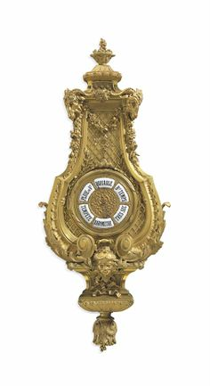 *A FRENCH ORMOLU BAROMETER AFTER THE MODEL BY ANDRE-CHARLES BOULLE, LAST QUARTER 19TH CENTURY