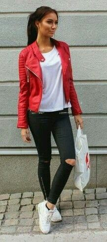 Outfits 20 Leather Mejores Pijamas Imágenes Accessories De Jacket OqR0OwrH