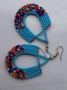 Maasai earrings african earrings tribal earrings kenyan earrings beaded earrings handmade earrings her gift hers women gift African Earrings, Tribal Earrings, Women's Earrings, African Shop, Earrings Handmade, Gifts For Women, Women Jewelry, Beads, Products