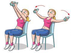 Rotolini sulla schiena: 8 esercizi per farli sparire - Melarossa Gym Workout Tips, Fitness Workout For Women, Sport Fitness, Fitness Diet, Yoga Fitness, Health Fitness, Sport Food, Chair Exercises, Sport Outfit