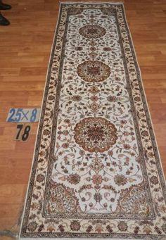 "2'6""x8' Runner Hand-knotted 200 kpsi Silk Oriental Persian Tabriz Rug 730"