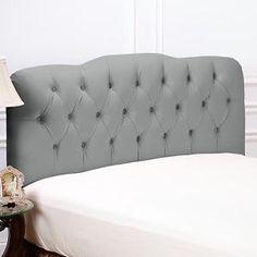 Suzie: Beds/Headboards - Tufted Fabric Headboard - Full at HSN.com - gray, tufted, headboard