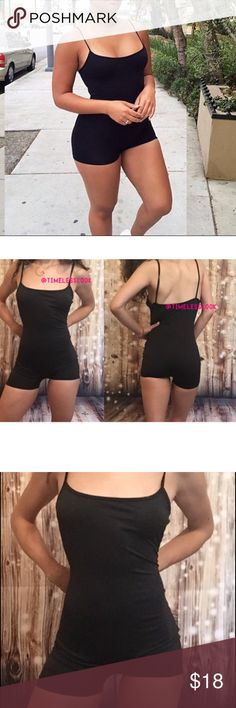 $45 spaghetti strap play suit jump suit body suit Perfect for working out wearing with a loose top or a cute jacket . One suit thousands of ways to wear it! Also great to wear under sheer clothing :) no trades  ✈️ SHIPS TOMORROW Brand new!  ❓  ask any questions and comment below!!  ❗️❗️❗️brand added for reference and exposure this color is n.ot in their line of products  ❗️❗️❗️ ❌TRUE TO SIZE -- depending on how fast this sells I will put all sizes for sale ! Barely naked Swim