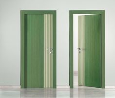 #green #veneer #door Unica from our Tranc'è collection #Isomax ©