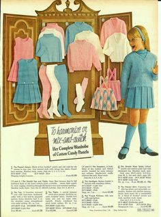 Sears Catalog  ~  Beautiful School Clothes!  ~ Picture Courtesy:  Little Susie Homemaker