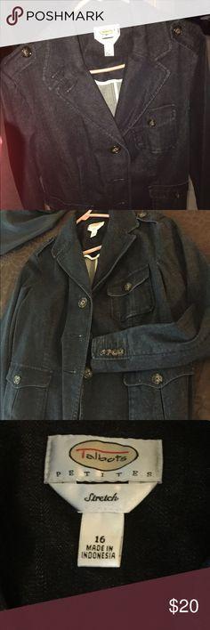 Stylish stretch denim jacket by Talbots Stylish stretch denim jacket by Talbots. Never worn. Talbots Jackets & Coats Jean Jackets
