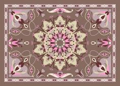 oriental carpet design, vector illustration