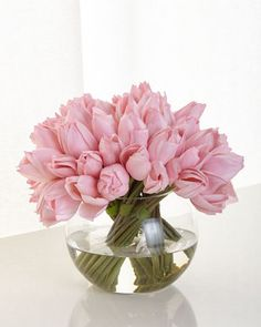 Pink+Tulip+Faux+Floral+by+John-Richard+Collection+at+Neiman+Marcus.