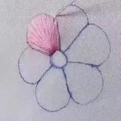 Hand Embroidery Videos, Embroidery Flowers Pattern, Learn Embroidery, Embroidery Hoop Art, Hand Embroidery Designs, Embroidery Techniques, Ribbon Embroidery, Crewel Embroidery, Embroidery Alphabet