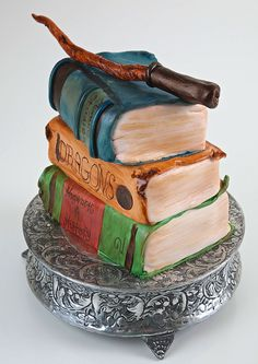 I know I'm pinning this one twice, but I really like how it looks, esp. the wand and the top book.