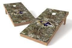 Baltimore Ravens Single Cornhole Board - Realtree Max-1® Camo
